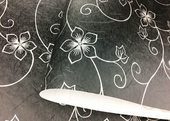 China Vinyl PVC Floral Peel And Stick Wallpaper Adhesive Black Floral Wallpaper supplier